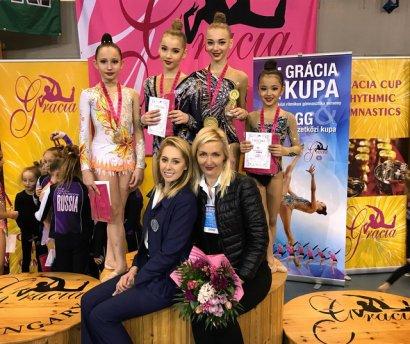 Успех одесситок на международном турнире по художественной гимнастике в Венгрии