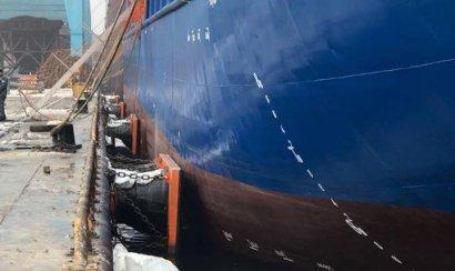 В Южном корабль протаранил причал