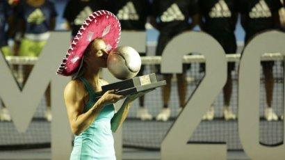 Украинская теннисистка Цуренко во второй раз выиграла турнир в Мексике