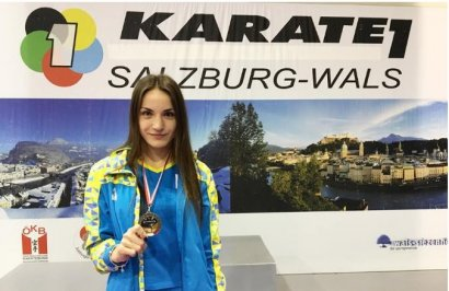 Одесситка Анастасия Степашко завоевала «бронзу» престижного международного турнира по карате в Зальцбурге