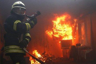 Серьезный пожар произошел минувшей ночью в Одесской области