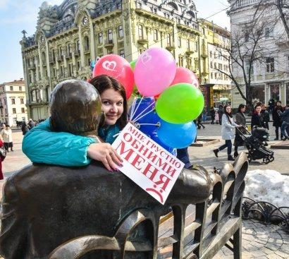 В Одессе на Дерибасовской прошла интересная акция (фото)