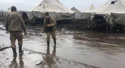 В следствии пожара в палатке на полигоне «Широкий Лан» погиб военнослужащий и семеро получили ожоги
