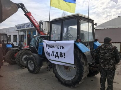 Аграрии перекрыли трассу Одесса-Рени
