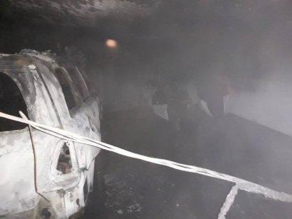 В Одессе горел паркинг