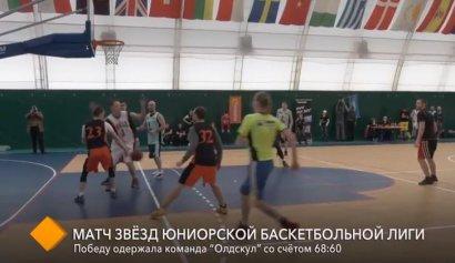 В спорткомплексе МГУ состоялся матч звезд Юниорской баскетбольной лиги