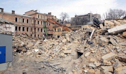 В центре Одессы сносят целый квартал