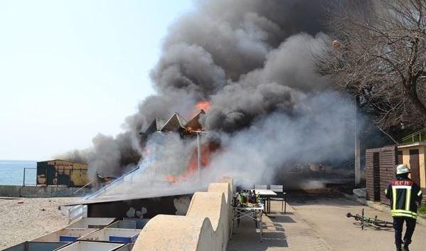 Причина пожара вресторане «Песок» вОдессе