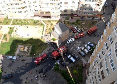 Пожар в паркинге многоэтажного жилого дома на улице Маршала Говорова, 10/4. ДОПОЛНЕНО