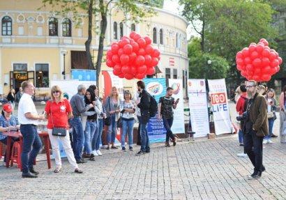 В Одессе прошла акция посвященная людям умершим от СПИДа