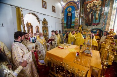 Митрополит Агафангел совершил освящение храма и Божественную литургию в Свято-Николаевском Измаильском мужском монастыре