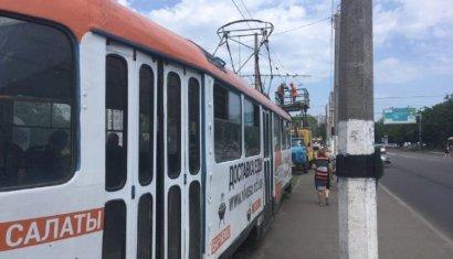 В Киевском районе Одессы остановлено движение трамваев