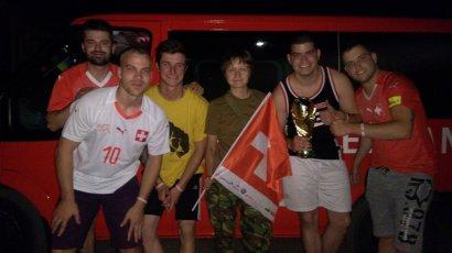 Болельщики из Швейцарии, которые направлялись в Ростов-на-Дону на игру чемпионата мира, случайно приехали в Донбасс