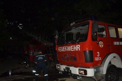 Серьезный пожар произошел в жилом доме в центре Одессы