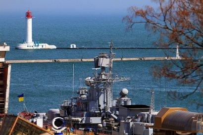 Флагман украинских ВМС встал «на прикол» у Морского вокзала