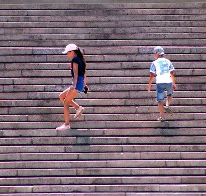 Потёмкинская лестница... умывается