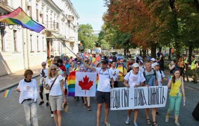 В Одессе прошел очередной «Марш Равенства». Обошлось почти без происшествий