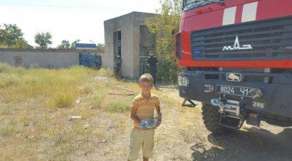 В Белгород - Днестровском дети тушили пожар