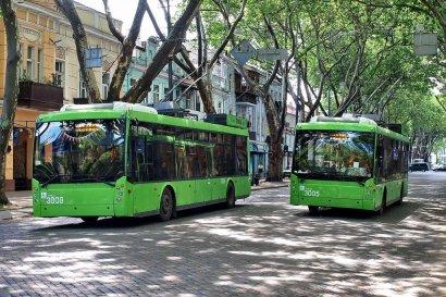Движение троллейбусов в районе 5-й станции Большого Фонтана нормализуется уже через две недели