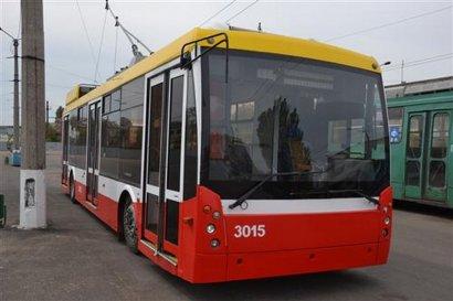 В нынешнем году троллейбусный парк города будет обновлен более, чем наполовину