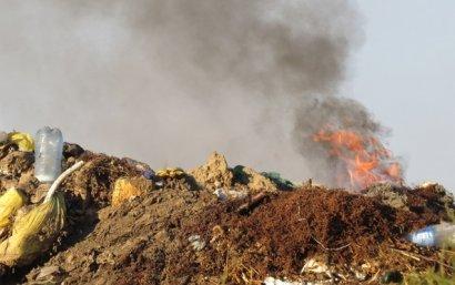 В Болграде третий день горит городская свалка