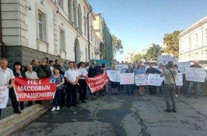 Портовики Одесской области провели митинг против замены госохраны на частников