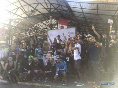 Около полусотни одесситов приняли участие в велосипедном флешмобе