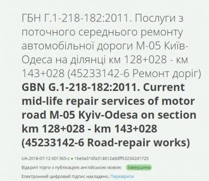 Трассу Одесса — Киев отремонтируют белорусские дорожники