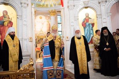В одесском Спасо-Преображенском соборе патриарх Александрийский возглавил молебен о мире в Украине