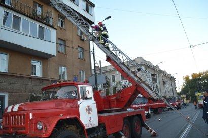 На Тираспольской горел пятиэтажный жилой дом