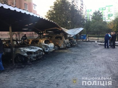В Одессе ночью горела автостоянка на Днепропетровской дороге