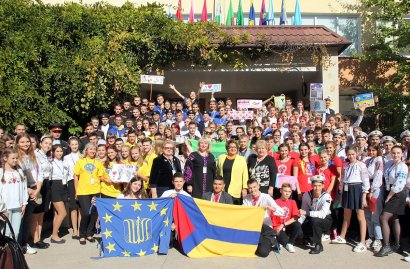В Одесскую гимназию съехались школьники со всей Украины.
