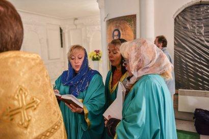 В храме апостола Иоанна Богослова состоялся водосвятный молебен