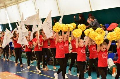 Праздник черлидинга в спорткомплексе Международного гуманитарного университете