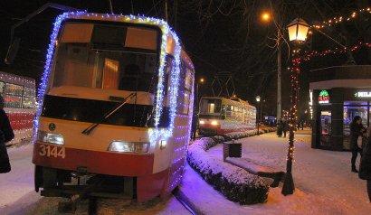 Рождественский парад трамваев