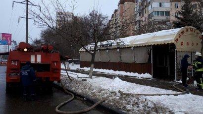 На Таирова вспыхнул пожар в кафе