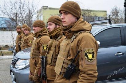 Сегодня в Одессе презентовали первое военизированное спецподразделение на железной дороге