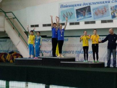 Одесситы завоевали две золотые медали на чемпионате Украины по синхронному плаванию