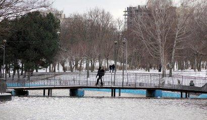 В парк Победы вернулась зима...