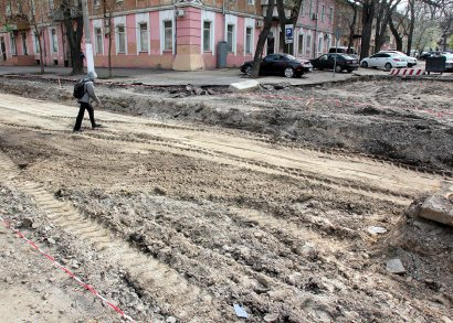 Капитальный ремонт  Софиевской продолжается.
