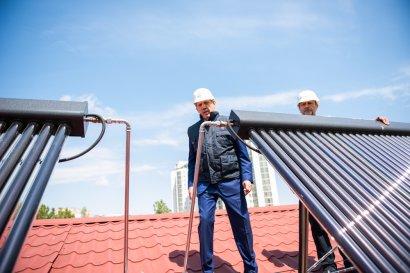 Запуск альтернативной системы горячего водоснабжения в общежитии Национального университета «Одесская юридическая академия» «Фемида»