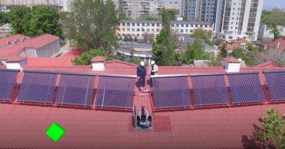 """Программа """"Зеленый университет"""": в Одесской Юракадемии установили солнечные коллекторы и батареи"""