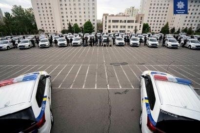 Патрульная полиция получила 83 новых автомобиля Mitsubishi Outlander