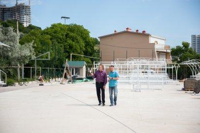 В Одессе завершается масштабная реконструкция современного спорткомплекса