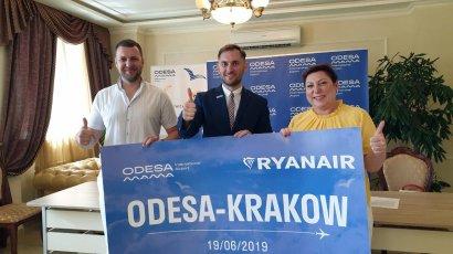 RyanAir выполнил первый рейс Одесса–Краков