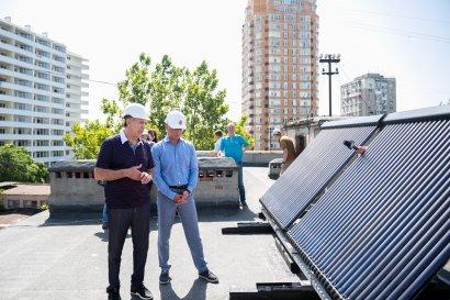Уже в третьем общежитии Одесской Юракадемии установили солнечные батареи и коллекторы