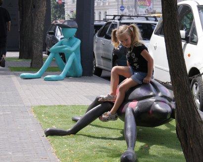 В Одессе напротив Музкомедии появился  арт-дворик.