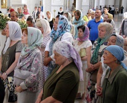 В Спасо-Преображенском Соборе почтили память Преподобного Сергия Радонежского и Святителя Иннокентия