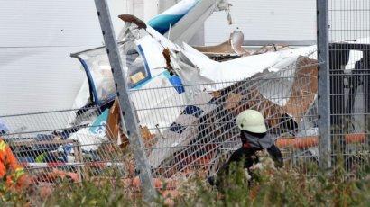 В Германии небольшой самолет при падении врезался в супермаркет, 3-е погибших