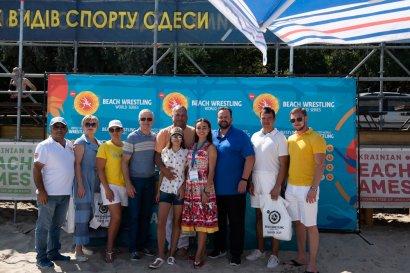 В Одессе впервые в Украине прошли соревнования по пляжной  борьбе мирового уровня